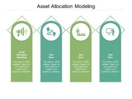 Asset Allocation Modeling Ppt Powerpoint Presentation Layouts Diagrams Cpb