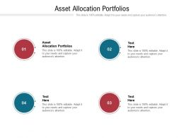 Asset Allocation Portfolios Ppt Powerpoint Presentation Infographic Template Show Cpb