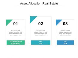 Asset Allocation Real Estate Ppt Powerpoint Presentation File Background Image Cpb