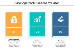 Asset Approach Business Valuation Ppt Powerpoint Presentation Ideas Backgrounds Cpb