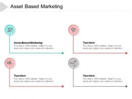 Asset Based Marketing Ppt Powerpoint Presentation Pictures Slides Cpb
