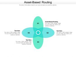 Asset Based Routing Ppt Powerpoint Presentation Gallery Example Cpb