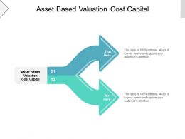 Asset Based Valuation Cost Capital Ppt Powerpoint Presentation Infographics Information Cpb
