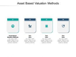 Asset Based Valuation Methods Ppt Powerpoint Presentation Icon Vector Cpb