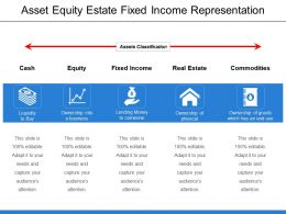 Asset Equity Estate Fixed Income Representation