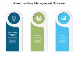 Asset Facilities Management Software Ppt Powerpoint Presentation Infographics Example Introduction Cpb