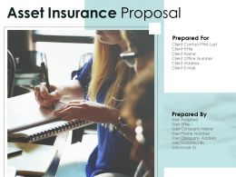 Asset Insurance Proposal Powerpoint Presentation Slides