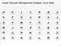 Asset Lifecycle Management Analysis Icons Slide Ppt Powerpoint Presentation Outline Layout