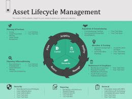 Asset Lifecycle Management N559 Ppt Powerpoint Presentation Inspiration