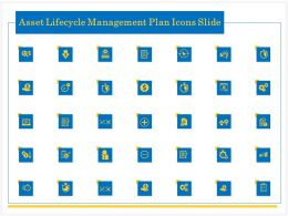 Asset Lifecycle Management Plan Icons Slide Ppt Powerpoint Presentation Styles Example