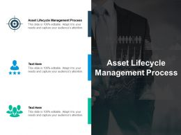 Asset Lifecycle Management Process Ppt Powerpoint Presentation Layouts Professional Cpb