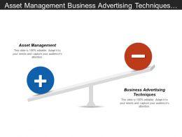 Asset Management Business Advertising Techniques Due Diligence Checklist Cpb