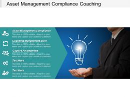 Asset Management Compliance Coaching Management Style Captive Arrangement Cpb