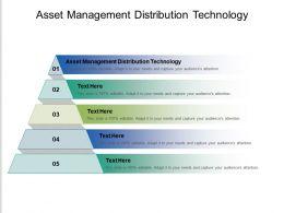 Asset Management Distribution Technology Ppt Powerpoint Presentation Gallery Graphics Tutorials Cpb