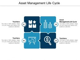 Asset Management Life Cycle Ppt Powerpoint Presentation Layouts Gallery Cpb