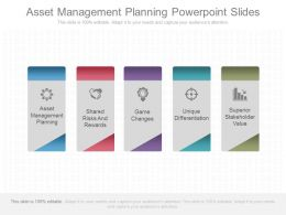 Asset Management Planning Powerpoint Slides