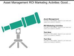 Asset Management Roi Marketing Activities Good Marketing Objectives Cpb