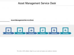 Asset Management Service Desk Ppt Powerpoint Presentation Styles Examples Cpb