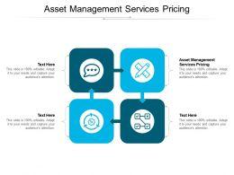 Asset Management Services Pricing Ppt Powerpoint Presentation Portfolio Shapes Cpb