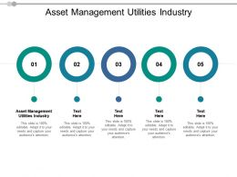 Asset Management Utilities Industry Ppt Powerpoint Presentation Professional Gridlines Cpb