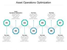 Asset Operations Optimization Ppt Powerpoint Presentation Styles Deck Cpb