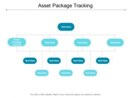 Asset Package Tracking Ppt Powerpoint Presentation Professional Guide Cpb