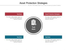 Asset Protection Strategies Ppt Powerpoint Presentation Infographics Slides Cpb