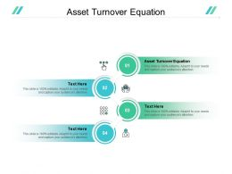 Asset Turnover Equation Ppt Powerpoint Presentation Infographics Slide Cpb