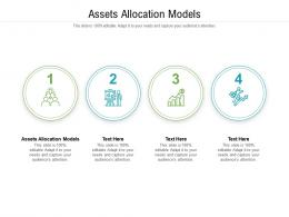 Assets Allocation Models Ppt Powerpoint Presentation Slides Templates Cpb