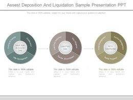 Assets Deposition And Liquidation Sample Presentation Ppt
