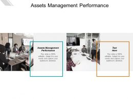Assets Management Performance Ppt Powerpoint Presentation Layouts Professional Cpb