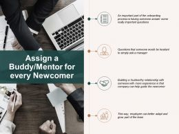 Assign A Buddy Mentor For Every Newcomer Checklist Ppt Powerpoint Presentation Professional Guide