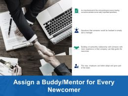 Assign A Buddy Mentor For Every Newcomer Ppt Infographics Display