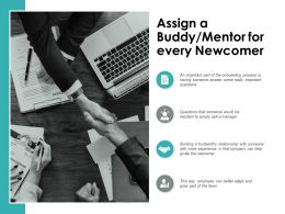 Assign A Buddy Mentor For Every Newcomer Ppt Powerpoint Presentation Gallery Graphic Tips