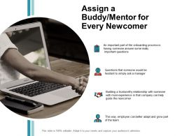 Assign A Buddy Mentor For Every Newcomer Process Ppt Powerpoint Presentation Diagram