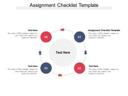 Assignment Checklist Template Ppt Powerpoint Presentation Infographics File Formats Cpb