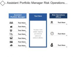 Assistant Portfolio Manager Risk Operations Officer Transactional Services Officer