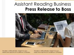 Assistant Reading Business Press Release To Boss