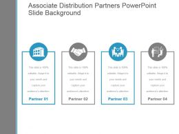 Associate Distribution Partners Powerpoint Slide Background