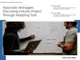 Associate Managers Discussing Industry Project Through Mapping Tool