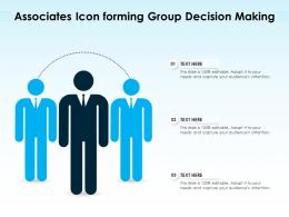 Associates Icon Forming Group Decision Making