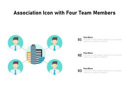 Association Icon With Four Team Members
