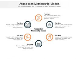 Association Membership Models Ppt Powerpoint Presentation Layouts Outfit Cpb