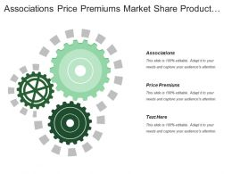 Associations Price Premiums Market Share Product Purchase Interval