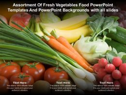 Assortment Of Fresh Vegetables Food Powerpoint Templates And Backgrounds With All Slides