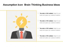 Assumption Icon Brain Thinking Business Ideas