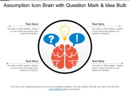 Assumption Icon Brain With Question Mark And Idea Bulb