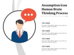 Assumption Icon Human Brain Thinking Process