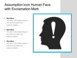 Assumption Icon Human Face With Exclamation Mark