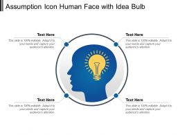 Assumption Icon Human Face With Idea Bulb